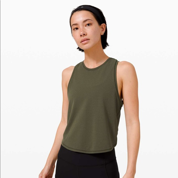 Lululemon Athletica Fast As Light Tank *Mesh
